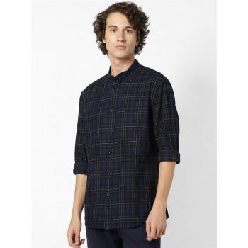 Celio Men Casual Wear Blue Shirt