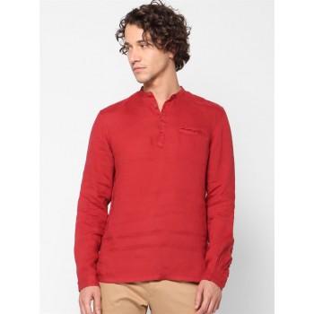 Celio Men Casual Wear Red Shirt