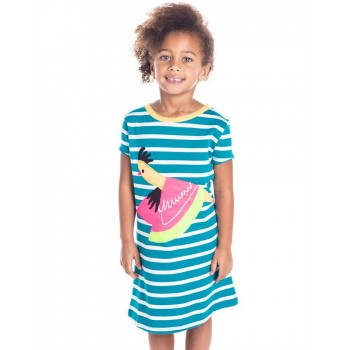 Cherry Crumble California Girls Casual Wear Striped Dress