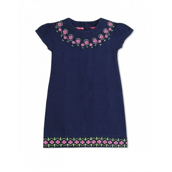 Cherry Crumble California Girls Casual Wear Embroidered Dress