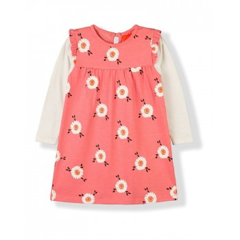 Cherry Crumble California Girls Casual Wear Printed Dress
