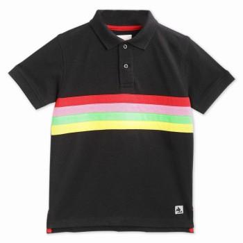 Cherry Crumble California Boys Casual Wear Black T-Shirt