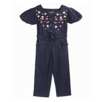 Cherry Crumble California Girls Casual Wear Navy Blue Jump Suit