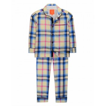 Cherry Crumble California Unisex Multicolor Checkered Nightsuit