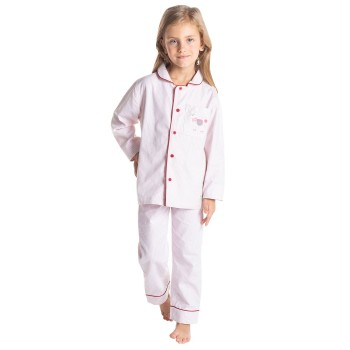 Cherry Crumble California Girls Pink Striped Nightsuit