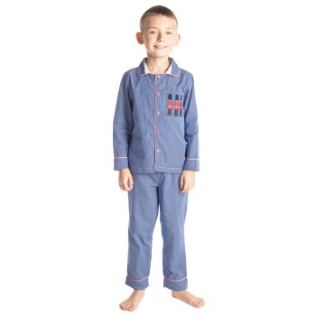 Cherry Crumble California Boys Blue Striped Nightsuit