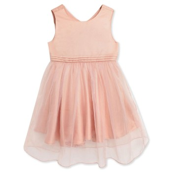 Cherry Crumble California Girls Party Wear Peach Fit & Flare Dress