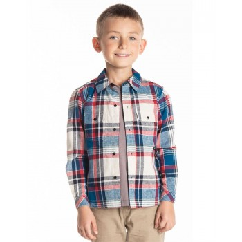 Cherry Crumble California Boys Casual Wear Checkered Shirt