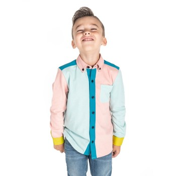 Cherry Crumble California Boys Casual Wear Color Block Shirt