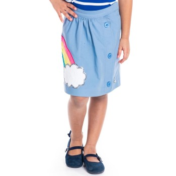Cherry Crumble California Girls Casual Wear Applique Skirt