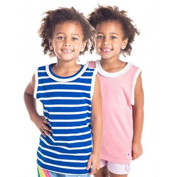 Cherry Crumble California Girls Multicolor Striped T-Shirt