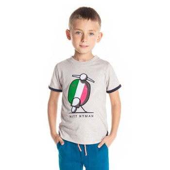 Cherry Crumble California Boys Casual Wear Embroidered T-Shirt