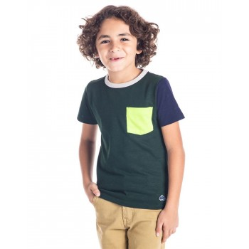 Cherry Crumble California Boys Green Solid T-Shirt
