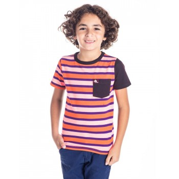 Cherry Crumble California Boys Multicolor Striped T-Shirt