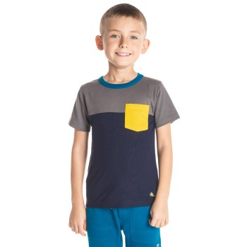 Cherry Crumble California Boys Blue Solid T-Shirt