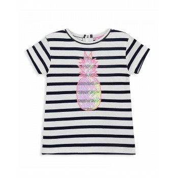 Cherry Crumble California Girls Casual Wear Striped T-Shirt