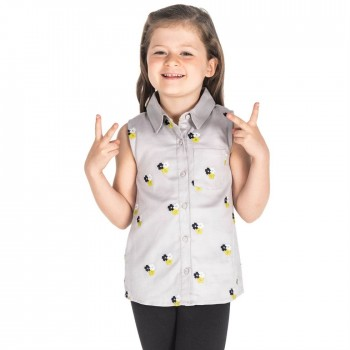 Cherry Crumble California Girls Casual Wear Embroidered Top