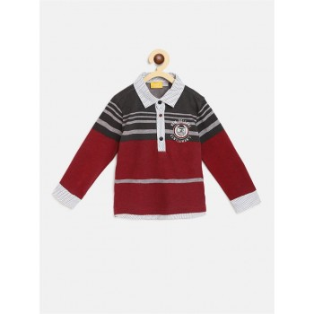 Chicco Boys Red Casual Wear T-Shirt