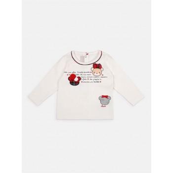Chicco Girls White Casual Wear T-Shirt