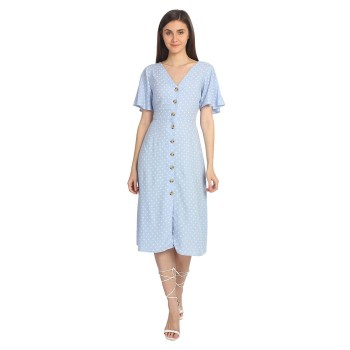 Cover Story Women's Regular Fit Casual Wear Shirt Dress