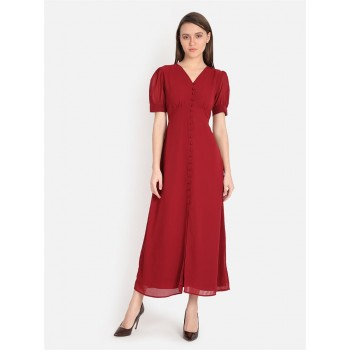Cover Story Women's Slim Fit Casual Wear Empire Dress