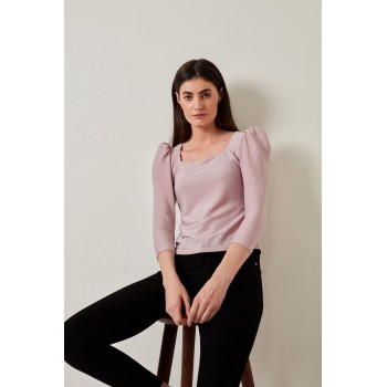 Cover Story Women Casual Wear Pink Top