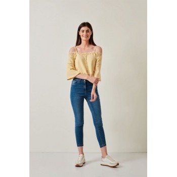 Cover Story Women Casual Wear Yellow Top