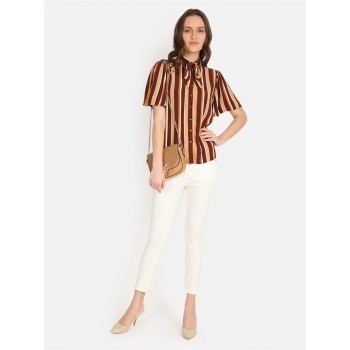 Cover Story Women's Slim Fit Casual Wear Shirt