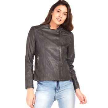 Elle Women Casual Wear Black Jacket
