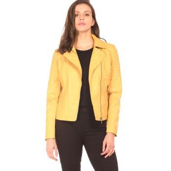 Elle Women Casual Wear Yellow Jacket