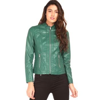 Elle Women Casual Wear Green Jacket