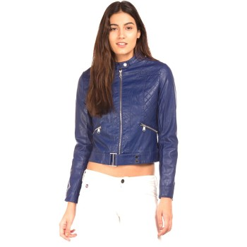Elle Women Casual Wear Blue Jacket