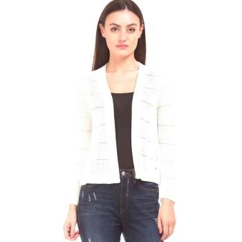 Elle Women Casual Wear Off White Shrug