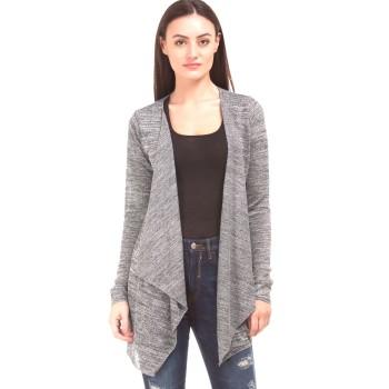 Elle Women Casual Wear Grey Shrug