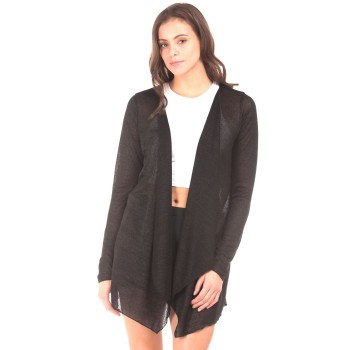 Elle Women Casual Wear Black Shrug