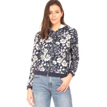 Elle Women Casual Wear Blue Sweatshirt