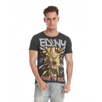 Ed Hardy Men Casual Wear Graphic Print T-Shirt