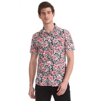 Ed Hardy Men Casual Wear Floral Print Shirt