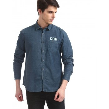 Ed Hardy Men Casual Wear Solid Shirt