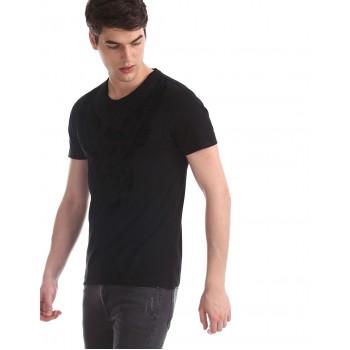 Ed Hardy Men Casual Wear Solid T-Shirt