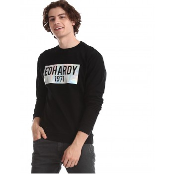 Ed Hardy Men Casual Wear Chest Print Sweatshirt