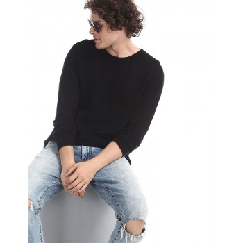 Ed Hardy Men Casual Wear Textured T-Shirt