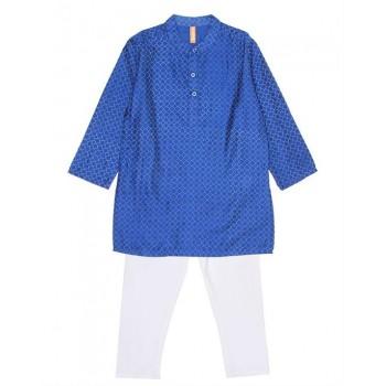 Ethnicity Boys Ethnic Wear Blue Kurta and Pyjama