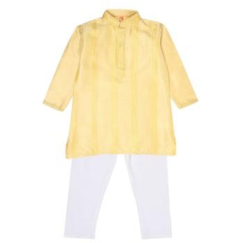 Ethnicity Boys Ethnic Wear Yellow Kurta and Pyjama