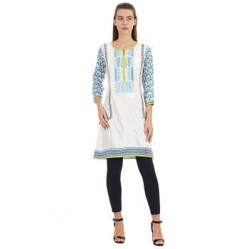 Ethnicity Ethnic Wear Embroidered Women Kurta
