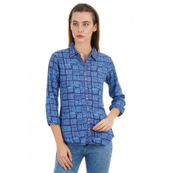 Ethnicity Casual Wear Printed Women Shirt
