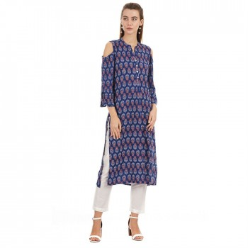 Ethnicity Ethnic Wear Printed Women Kurta
