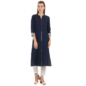 Ethnicity Ethnic Wear Solid Women Kurta