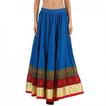 Ethnicity Women Printed Multicolor Flared Skirt