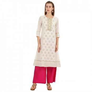 Ethnicity Casual Wear Embellished Women Kurta